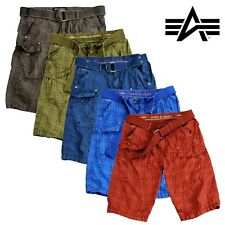 Alpha Industries Shorts Checket Shorts Cargo Hose Cargo trousers Bermuda Pants