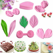 Leaf Flower Petal Silicone Fondant Cake Decorating Sugarcraft Baking Mold Tools