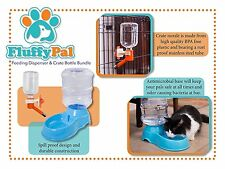 Crate Water Bottle Bundle & Automatic Dog Waterer FluffyPal Dogs Cats & More