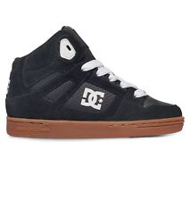 DC SHOES REBOUND BLACK GUM YOUTHS TRAINERS
