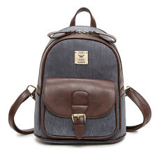 Mini Cute Travel Schoolbag Teenage Girls Women Backpack Casual Corduroy Bags