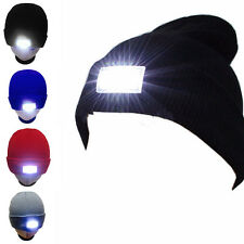 Unisex 5 LED lighted Winter Warm Hat Beanie Angling Hunting Camping Running Cap