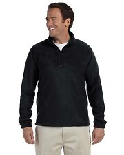 Harriton Fleece Pullover 8 oz Quarter-Zip Jacket M980 Grey Large More Size/Colrs