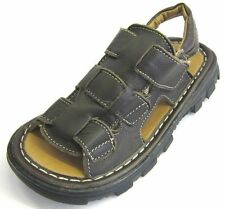 BOYS COCO BROWN OPEN TOE SANDALS WITH SLINGBACK STRAP JUMBO