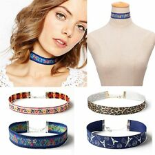 Multicolor Flower Bohemian Choker Embroidery Ethnic Necklace Jewelry