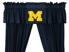 University of Michigan Wolverines Window Treatments Valance and Drapes