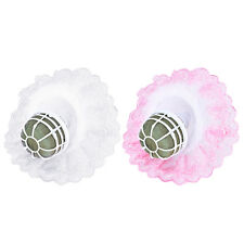 Bouquet Handle Holder + White Lace Collar for Bridal Floral Wedding Flower SG