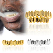 Gold Grillz 14K Plated Grills Bling Hip Hop Teeth Gangsta Gangster Ice Mouth Kit
