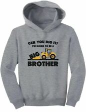 Going To Big A Brother - Gift for Tractor / Bulldozer Loving Boys Toddler Hoodie