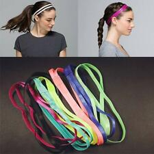 Women Sports Yoga Elastic Double Headband Sweatband Softball Anti-Slip Hair Band