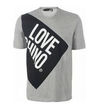 T SHIRT LOVE MOSCHINO GREY LOGO LOVE CHINO