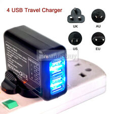 Portable Wall Charger 4 Port 2.1A Multi Travel USB Plug Power Adapter iPhone