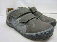 Boys Startrite Casual Shoes In Grey Leather 'Naples' SALE