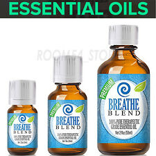 Breathe 100%Pure Essential Oils For Diffuser 10,30,60ml Aroma Free Shipping
