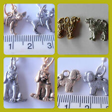 Beagle Bichon Cavsmall dog breed pewter Charms gold & silver tone ready pendants
