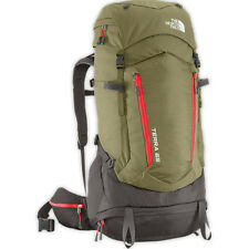 North Face Terra 65 Mens Rucksack Hiking - Mountain Moss Pompeian Red All Sizes