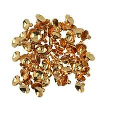 50pcs 6/8mm Silver Gold Brass Round Bead Caps Jewelry Findings Craft DIY