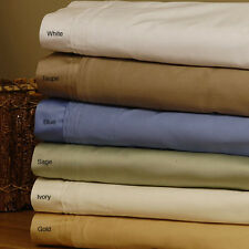 1000TC 100%EGYPTIAN COTTON LUXURY BEDDING ITEMS QUEEN SIZE ALL SOLID COLOR
