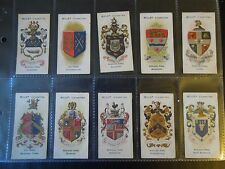 1906 Wills BOROUGH ARMS UK counties series 2 set 50 cards Tobacco Cigarette