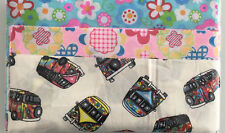 MULTI COLOUR CAMPERVAN MIX BUNDLE PATCHWORK FABRIC / MATERIAL SQUARES