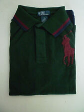 Ralph Lauren Boys Long Sleeve Green Big Pony Polo Top Rugby Shirt Bnwt - New