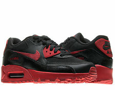 Nike Air Max 90 (GS) Black/Gym Red Boys' Running Shoes 307793-095