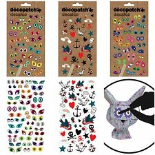 Decopatch Transfer Stickers Eyes Funny Realistic Tattoo for Decoupage