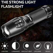 G700 X800 5000 lumen Cree LED Flashlight Zoom Military Grade Tactical Torch Lamp
