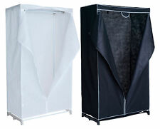 HOME Fabric Covered Single Clothes Rail Wardrobe - Choice of Black / White.