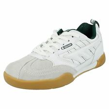 Mens Hi-Tec White/Green Lace Up Trainers Squash Classic