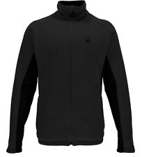 NEW SPYDER FOREMOST SWEATER BLACK MENS STRYKE JACKET HEAVY WEIGHT FLEECE BACKING