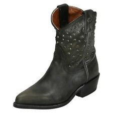 Ladies Harley Davidson Leather Cowboy Western Ranch Style Boots With Stud - Kira