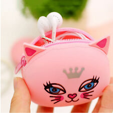 Candy Color Cat Panda Funny Monster Silicone Coin Purse Gift Men Women Wallet