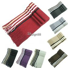 New Men Knit Scarf Stole Shawl Wrap Striped Fringed Long Soft Warm Winter UTAR