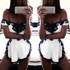 Women Sexy Clubwear Playsuit Bodycon Party Jumpsuit&Romper Trousers Shorts 35DI