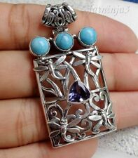 Gemstone Solid Silver, 925 Balinese Dragonfly Pendant 27582