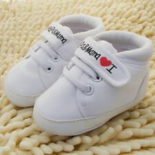 Toddler Newborn Shoes Baby Infant Kids Boy Girl Soft Sole Canvas Sneaker New