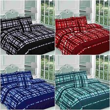 Finley Checked Duvet Cover Bedding Set Bed in a Bag Single Double King Superking
