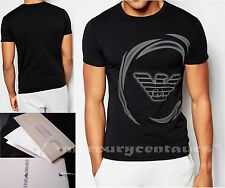 New Emporio Armani black Muscle fit Top T-shirt,Size: M, L, XL