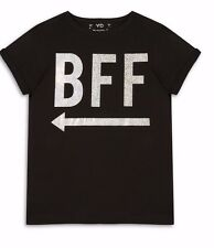 YD Girls BFF Print T-Shirt Ages 7-13Yrs BNWT - Perfect For BFF's