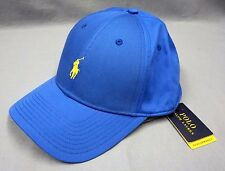 NWT $49 POLO RALPH LAUREN Performance Blue HAT CAP BALL Mens One Size New