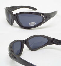 Motorcycle Glasses Goggles Sunglasses Spring Temple Padded Wind Resistant UV100