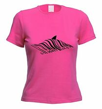 BANKSY BARCODE SHARK WOMENS T-SHIRT - Choice Of Colours - Sizes S to XL