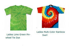 MORE Hand-dyed LADIES Tie Dye T-Shirt Various Designs/Colors/Size