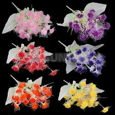 Various Artificial 20-Head Carnations Silk Flower Bouquet Wedding Decor 34cm