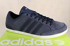 Adidas Lace up Sneakers Low Shoes Trainers CAFLAIRE Leather blue NEW