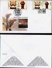 2004 CHINA ROMANIA JOINT ISSUE ART FOLK CERAMIC POTTERY 4 STAMPS ON  FDC COVER