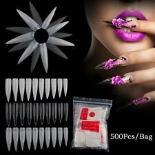 500Pcs  French Nail Art False Nail Fake Fingernail 10 Size Full Tips