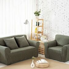Newest Slipcovers Striped Seater Sofa Couch Furniture Dustproof Cover Protector
