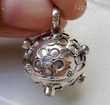 Gemstone Solid Silver, 925 Balinese Brass Mystic Chime Pendant 27764
